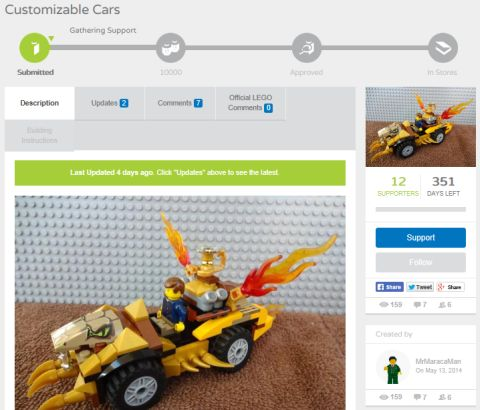 Customizable LEGO Cars Lucas Colon - Vote Here