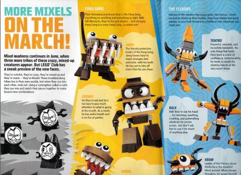 LEGO Club Magazine Mixels