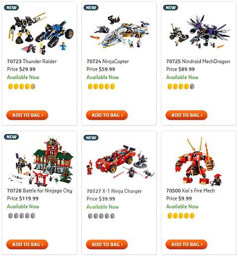 Shop 2014 LEGO Ninjago