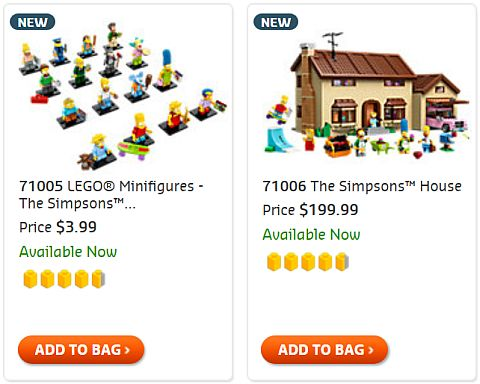 Shop LEGO The Simpsons