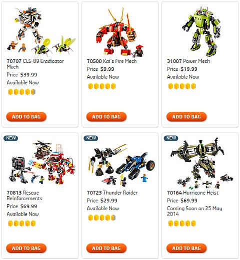Shop for LEGO Mechs