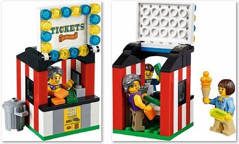 #10244 LEGO FairGround Mixer Ticket Booth