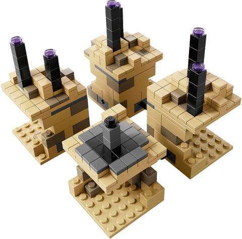 #21107 LEGO Minecraft The End Layout