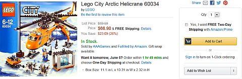 LEGO City Arctic on Amazon