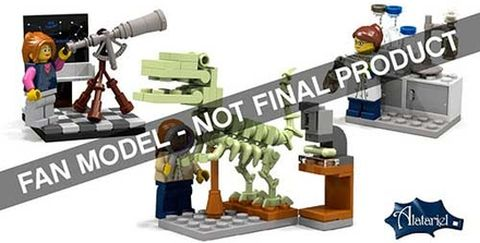 LEGO Ideas Female Set LEGO Research Institute