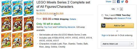 LEGO Mixels on Amazon