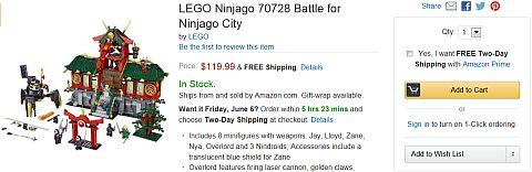 LEGO Ninjago on Amazon