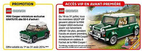 LEGO Shop Calendar Europe July
