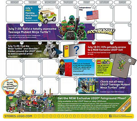 LEGO Shop Promotions July