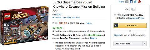 LEGO Super Heroes on Amazon