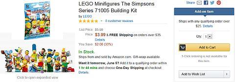 LEGO The Simpsons on Amazon