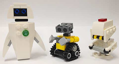 LEGO WALL-E, EVE and M-O by Miro