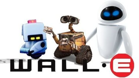 LEGO WALL-E, EVE and M-O