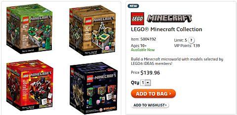Shop LEGO Minecraft Collection