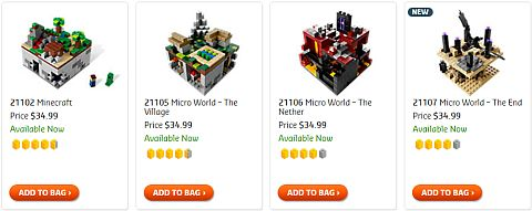 Shop LEGO Minecraft
