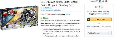The LEGO Movie Sets on Amazon