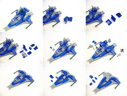 LEGO Classic Spaceship Building Steps by Peter Morris