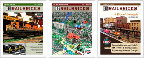 LEGO Train Magazine Railbricks Issues
