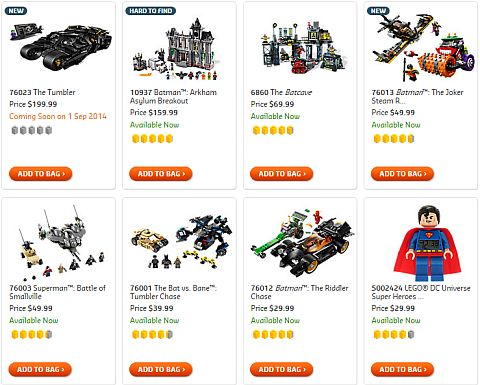 Shop LEGO Batman Sets