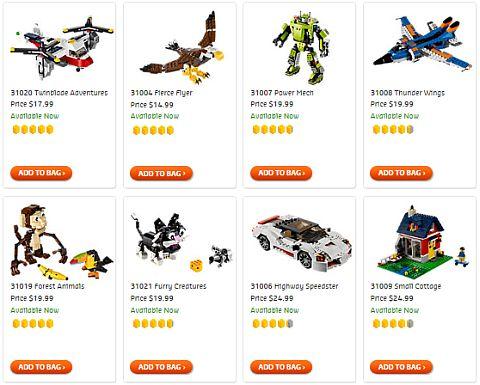 Shop LEGO Creator