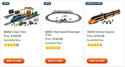 Shop LEGO Trains
