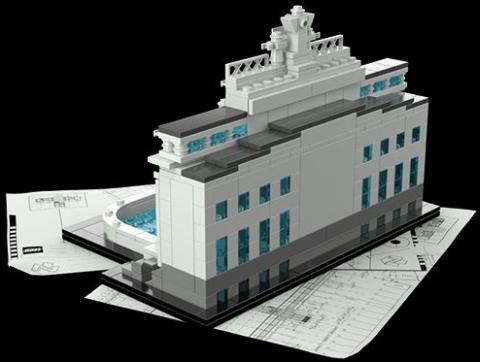 #21020 LEGO Architecture Trevi Fountain Back