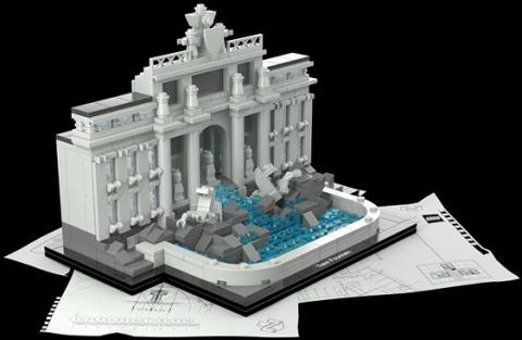 #21020 LEGO Architecture Trevi Fountain Front
