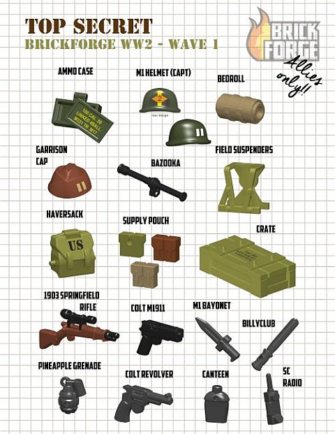 Custom LEGO Military Accessories by BrickForge