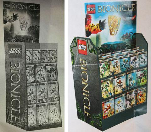 LEGO Bionicle 2015 Display Box