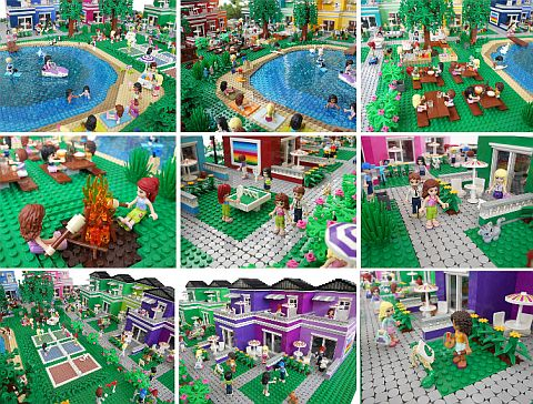 LEGO Friends Town Album by Anne Mette
