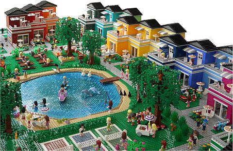 LEGO Friends Town Details by Anne Mette