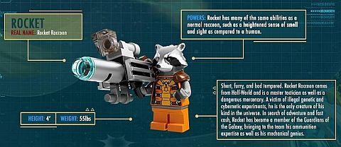 LEGO Guardians of the Galaxy Rocket Raccoon