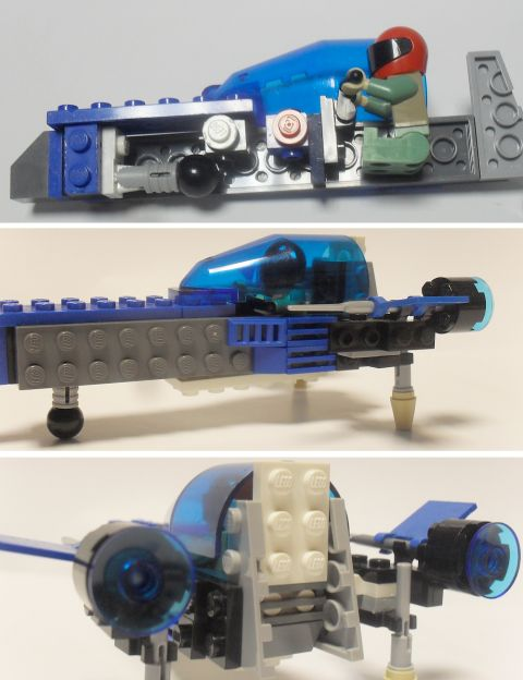 LEGO Spaceship details by ninja5