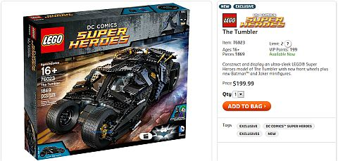 Shop LEGO Batman Tumbler