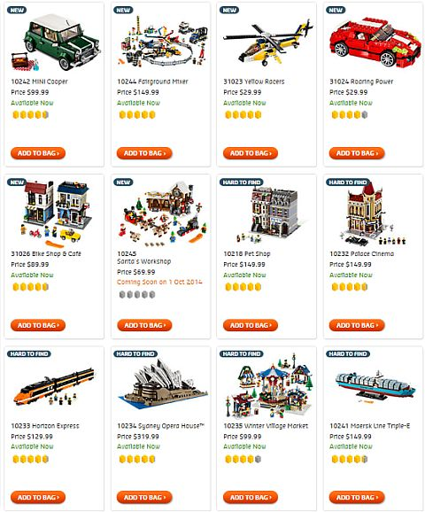 Shop LEGO Creator Sets