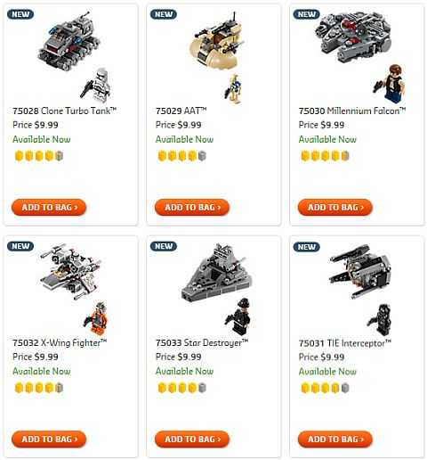 Shop LEGO Star Wars MicroFighters