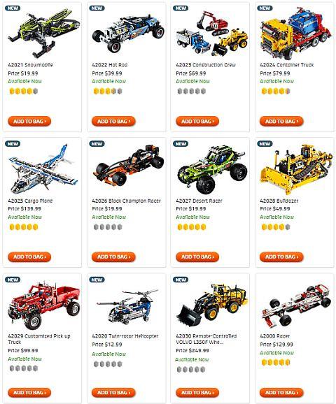 Shop LEGO Technic 2014