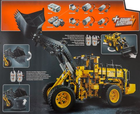 #42030 LEGO Technic Volvo Wheel Loader Back View