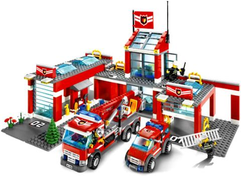 #7945 LEGO City Fire Station Details