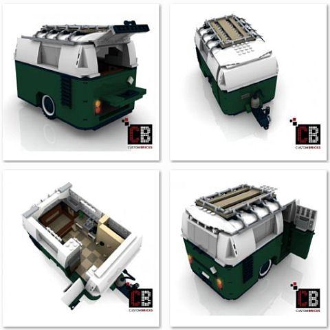 Custom LEGO Mini Cooper Caravan Details