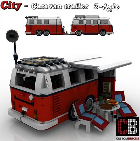 Custom LEGO VW Camper Caravan Large