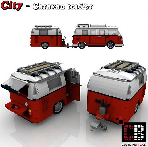 Custom LEGO VW Camper Caravan Small