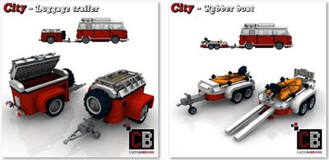 Custom LEGO VW Camper Trailers