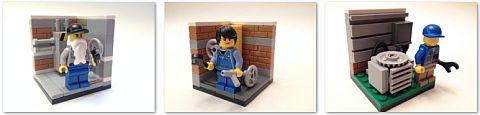 LEGO Blue Collar Bricks