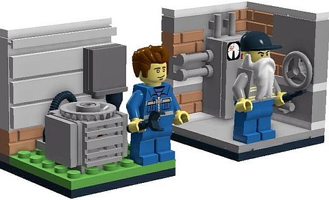 LEGO Blue Collar Workers Details