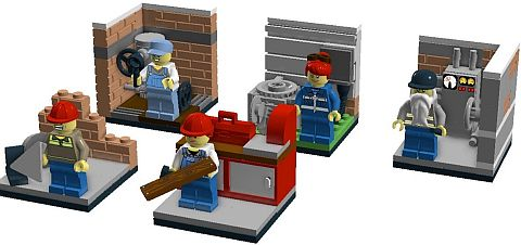 LEGO Blue Collar Workers