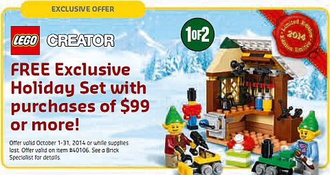 LEGO October Holiday Set
