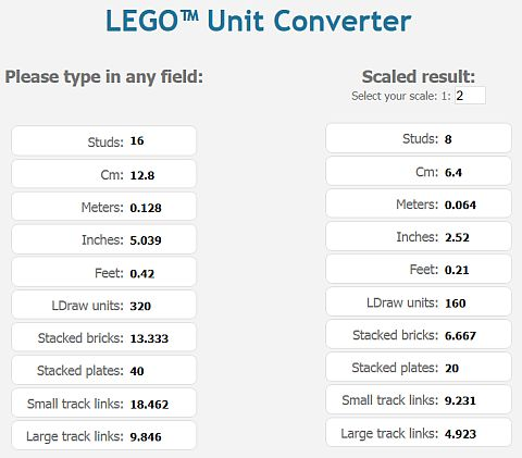 LEGO Unit Converter by Sariel