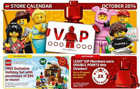 October LEGO Promotions