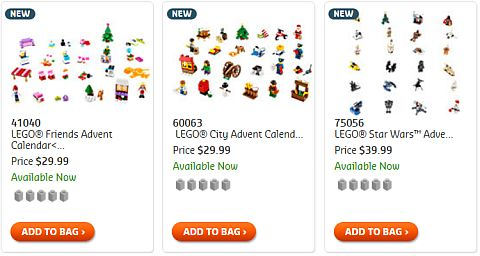 Shop LEGO Advent Calendars